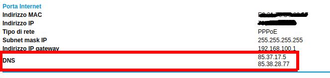 Config DNS ADSL